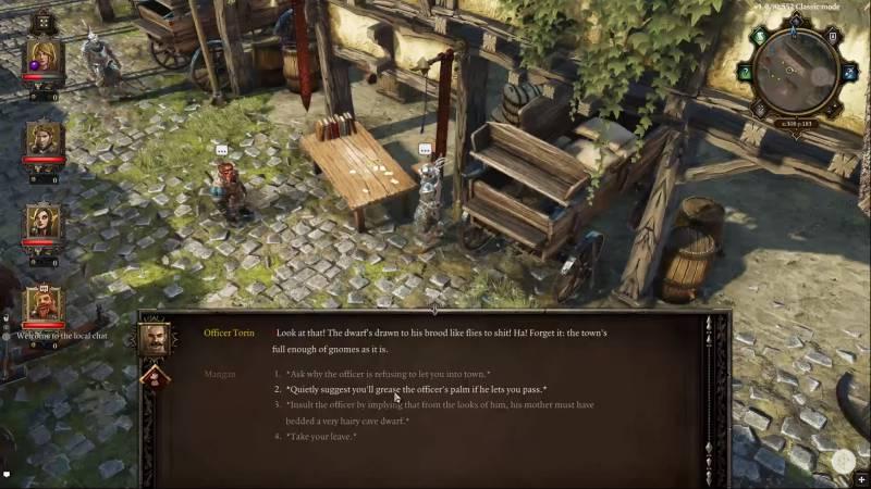 Игра предоставляет широкий выбор действий и радует развитой системой диалогов
