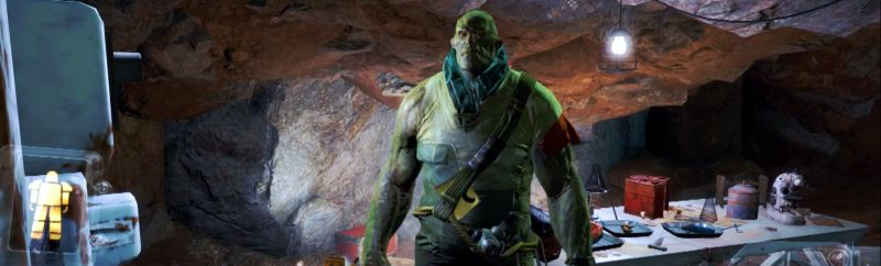 Наш пещерный друг Верджил оказался конкретным шрэкоподобным мутантом