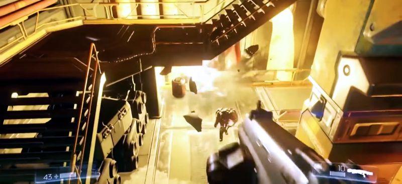 Лестницы и панели помогают убегать от врагов и отстреливаться