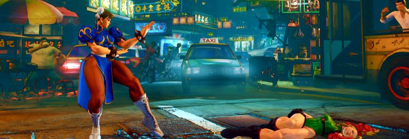 Street Fighter 5 - через секунду после комбо