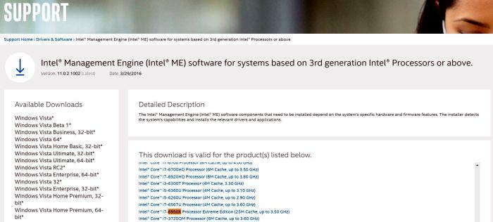 Core i7–6950X Extreme Edition засветился на сайте Intel