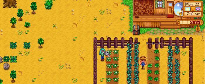 Скриншот симуляторая фермы Stardew Valley