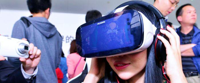 Очки виртуальной реальности Huawei VR в действии