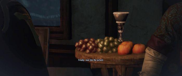 Кубок и фрукты