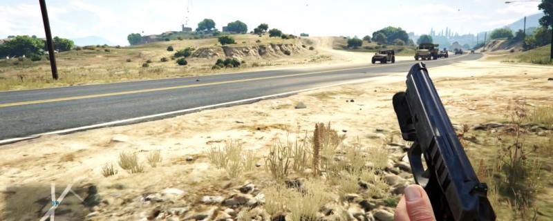 Перехват военного грузовика