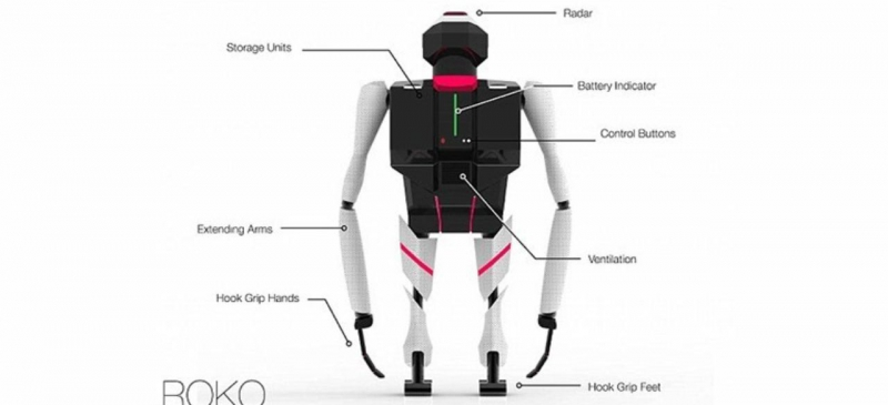 Структура робота-обезьяны Roco