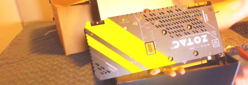 ZOTAC GeForce 1070 GTX защитный кожух