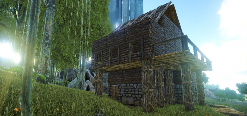 Первый деревянный дом