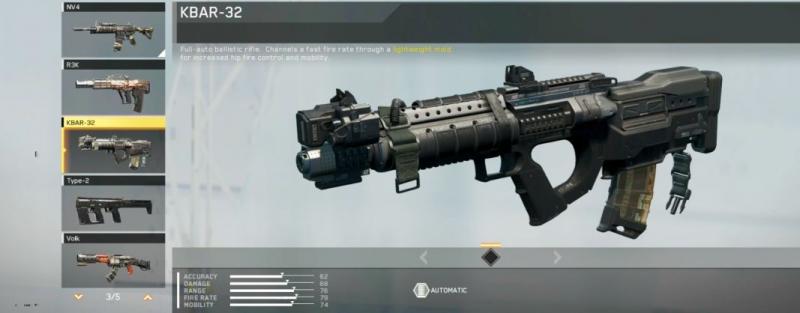 Местное оружие в игре Call of Duty: Infinite Warfare