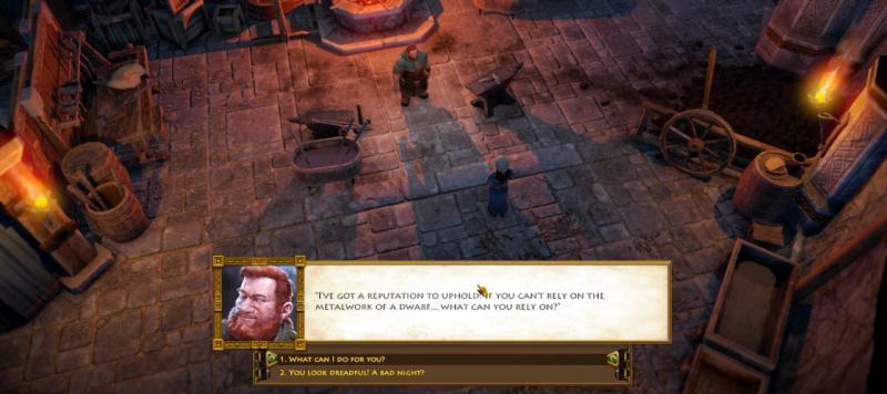 Диалоги в The Dwarves