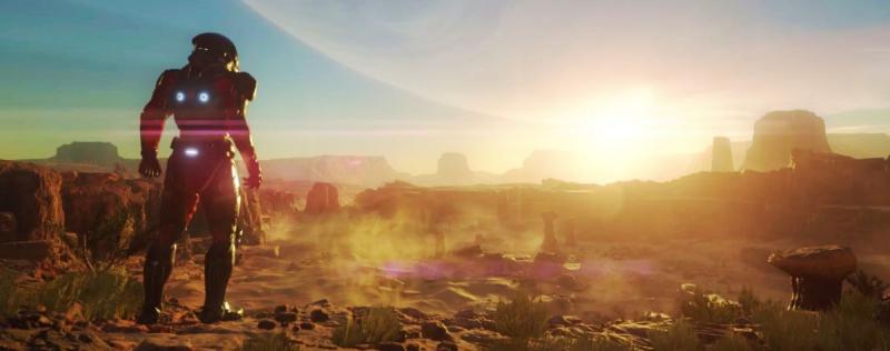 Пустынные пейзажи Андромеды