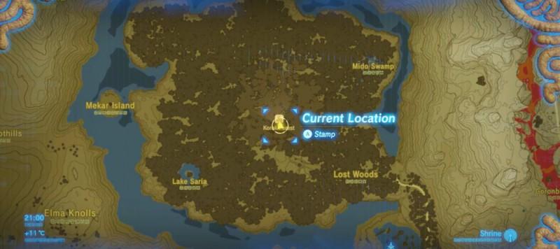 Лес Крок на карте