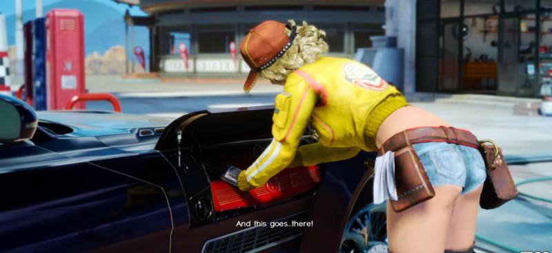 Синди Аурум чинит автомобиль