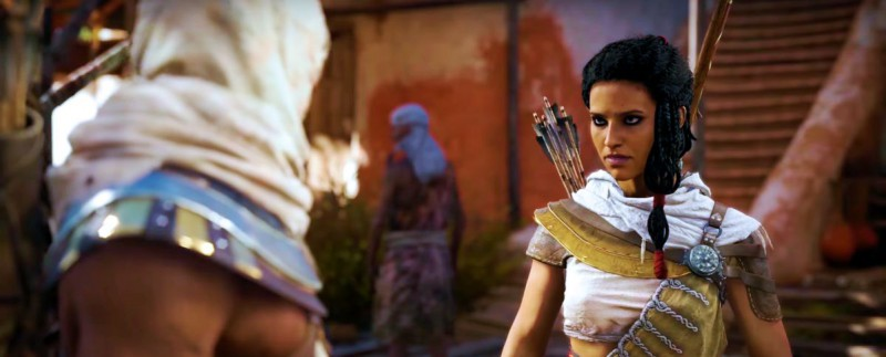 Дерзкая египтяночка - подруга протагониста