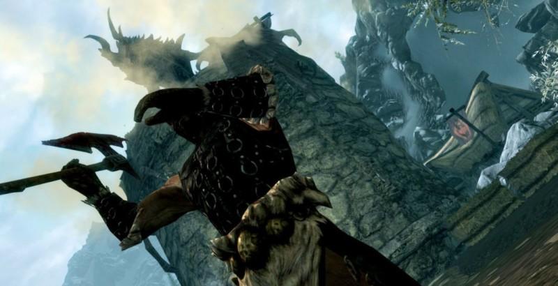 Хадвар и дракон на улице