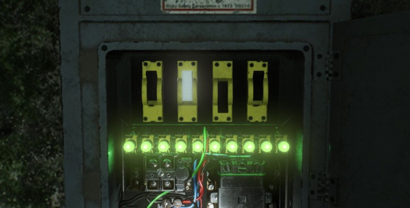 Электрощиток и провода