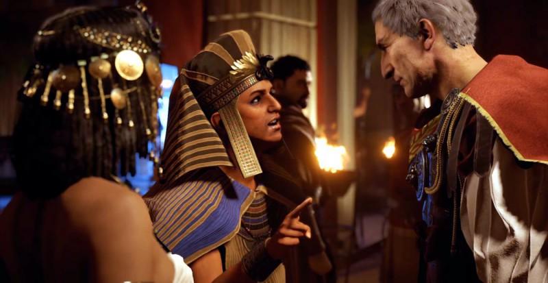 Цезарь, Клеопатра и ее братишка