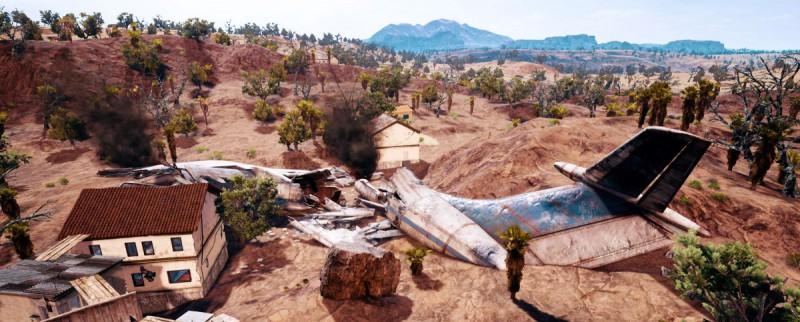 Останки самолета в пустыне PUBG
