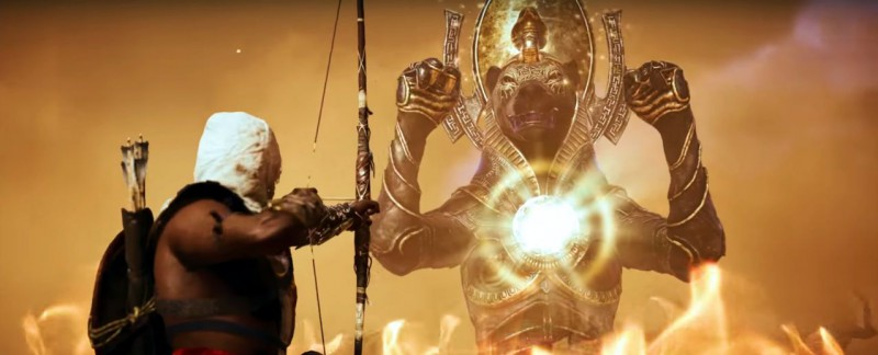 Битва ассасина с богиней Сехмет