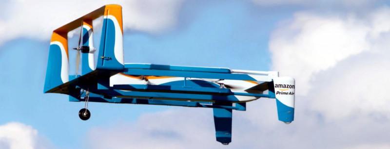 Амазон-дрон в полете