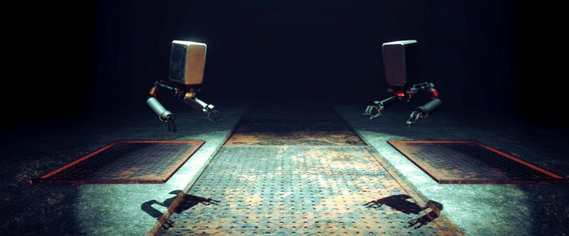 Пьяная драка квадратных роботов