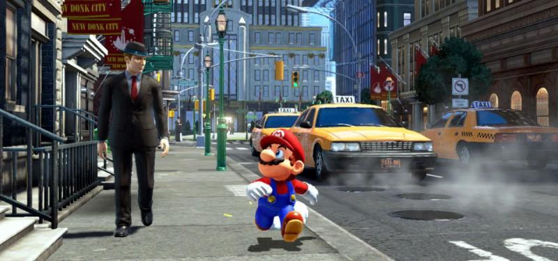 Прогулки Марио по городу