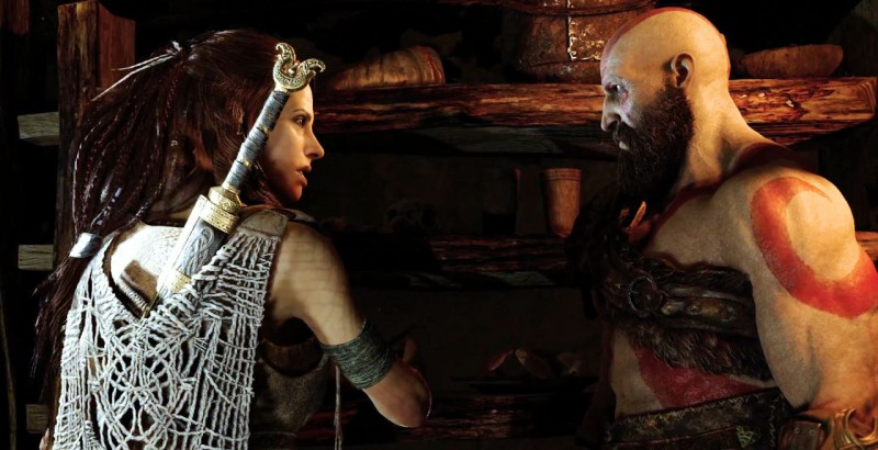 Кратос и женщина