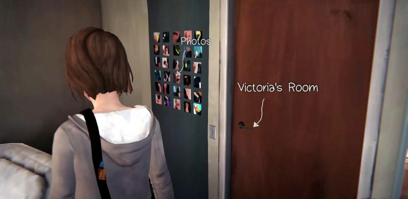 Фотографии в комнате Виктории