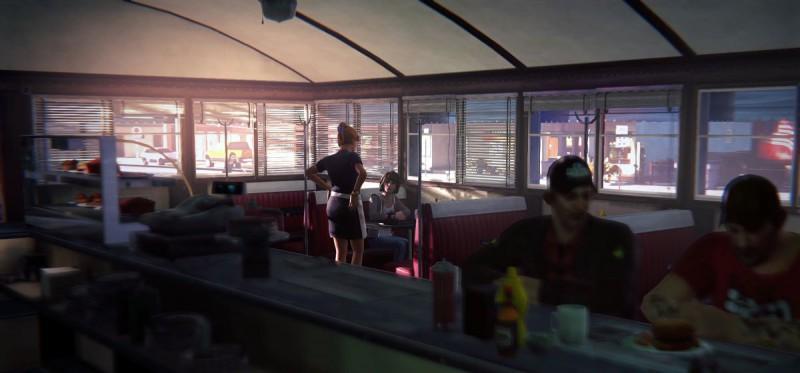В закусочной с официанткой