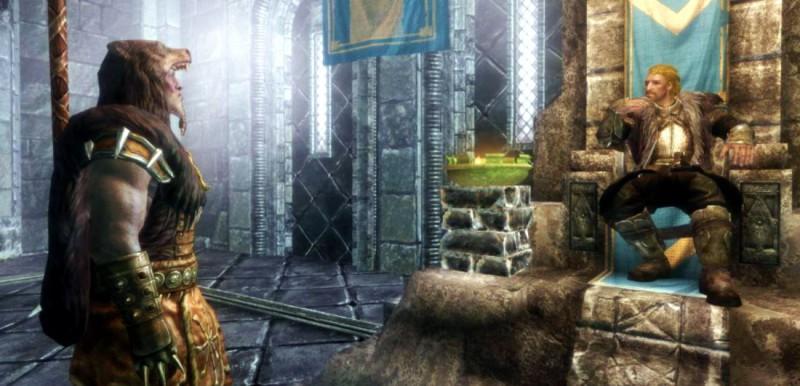 Ульфрик развалился на троне