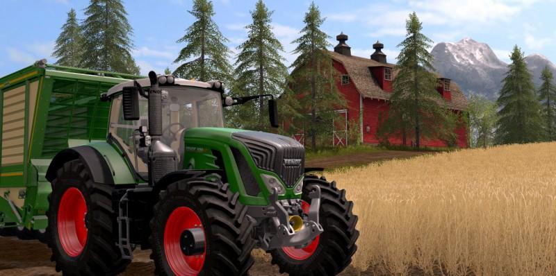 Реальный фермерский трактор