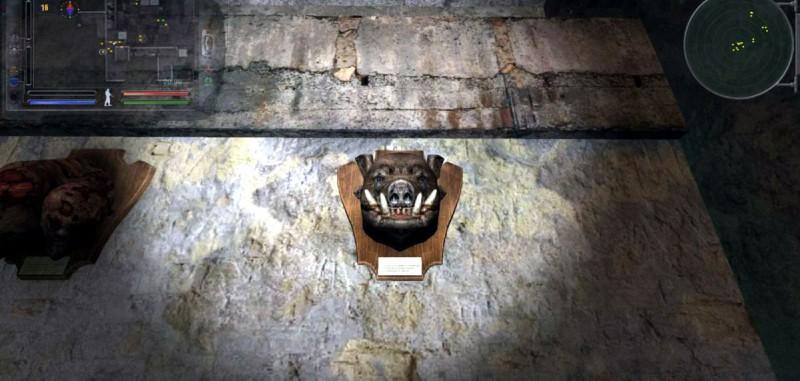 Морды мутантов украшают стены