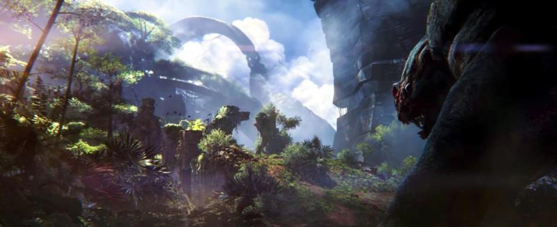 Огромный, покрытый джунглями мир