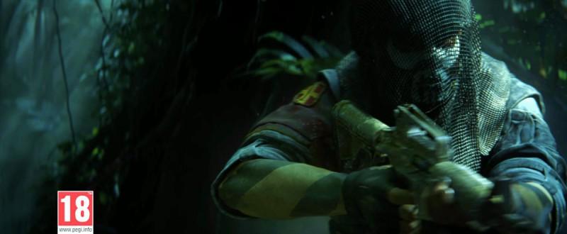 Вооруженный мужик с сеточкой на голове