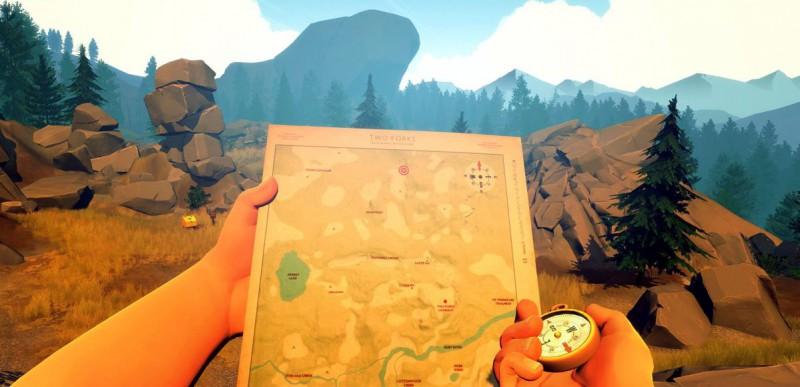 Скриншот интересной игры Firewatch