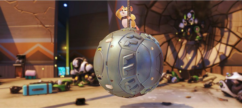 Хомяк катается на шаре