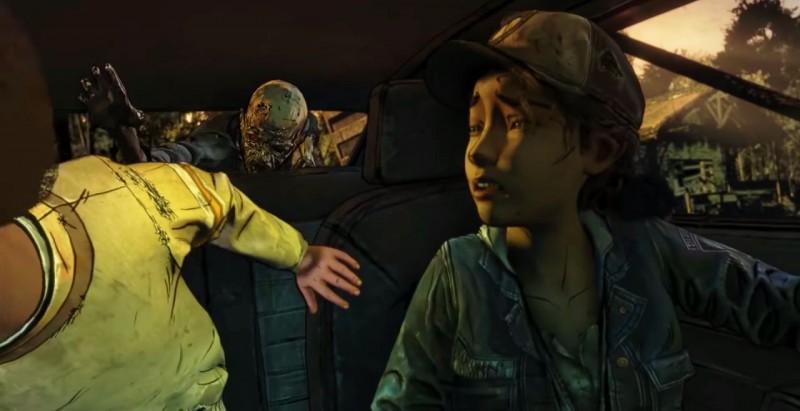 Зомби лезет в машину