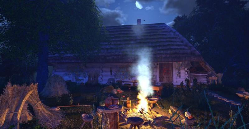 Славянский ночной костер