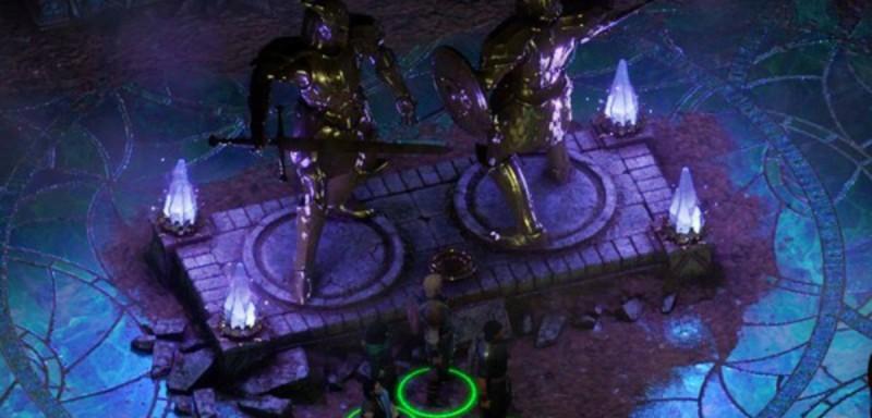Статуи и ниша для медальона