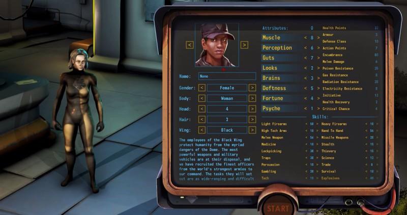 Кастомизация персонажа в Encased