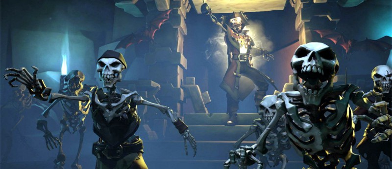 Скелеты-пираты атакуют