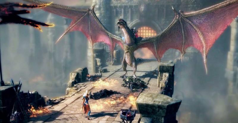 Битва персонажа с драконом