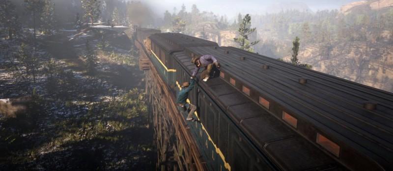 Взобраться на крышу поезда