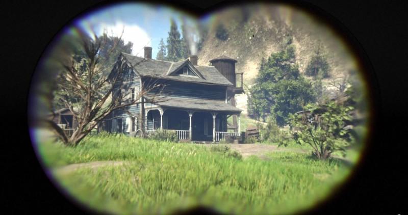 Разглядываем ранчо в бинокль