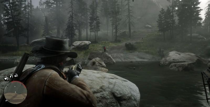 Отстрел супостатов у реки