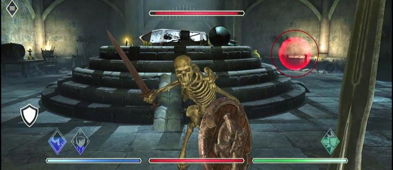 Скриншот TES Blades со скелетиком
