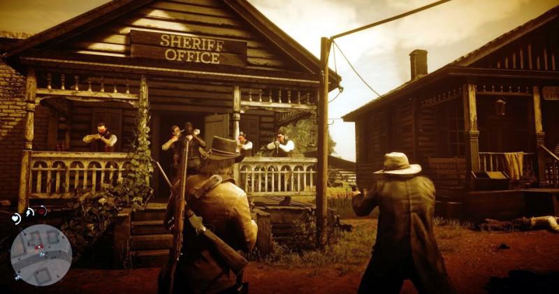 Возле офиса шерифа