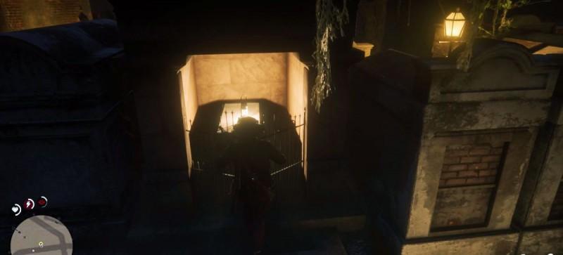Спуск в гробницу