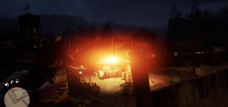 Сбиваем лампу и создаем пожар
