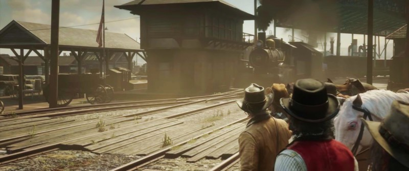 Поезд на окраине города